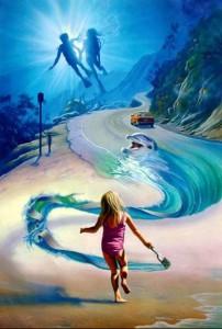 bambina dipinge